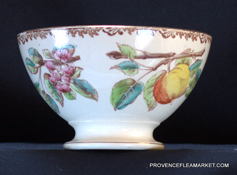 Beautiful apple pattern french vintage bowl cafe au lait-2