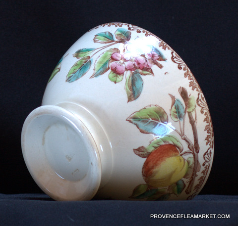 Beautiful apple pattern french vintage bowl cafe au lait-5