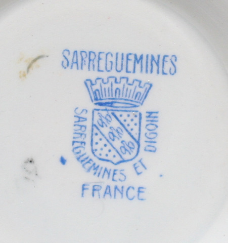 Beautiful sarreguemines Digoin bowl cafe au lait-5