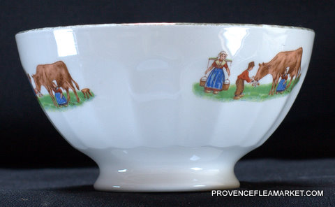 French farmer pattern medium bowl cafe au lait -1