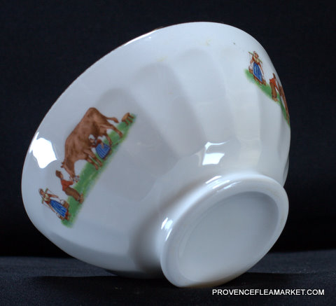 French farmer pattern medium bowl cafe au lait -2