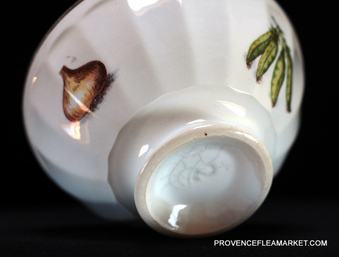 French vintage Vegetables pattern bowl cafe au lait-4