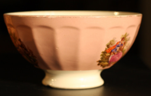 Romantic pink bowl cafe au lait-1